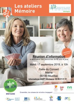 Atelier Mémoire - Muzillac (56) @ Salle du Conseil, Mairie | Muzillac | Bretagne | France
