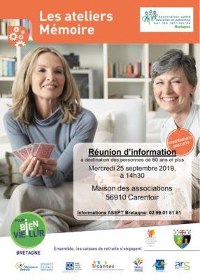 Atelier Mémoire - Carentoir (56) @ Maison des Associations | Carentoir | Bretagne | France