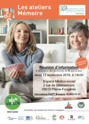 Atelier Mémoire - Pleine-Fougères (35) @ Espace Médico-social | Pleine-Fougères | Bretagne | France
