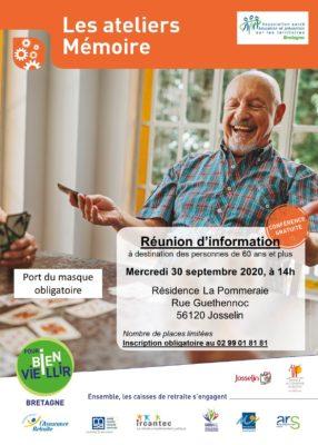 Ateliers Mémoire - Josselin (56) @ Résidence La Pommeraie | Josselin | Bretagne | France