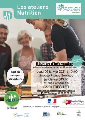 atelier nutrition - Treguier (22) @ espace france services (ancienne CPAM) | Tréguier | Bretagne | France
