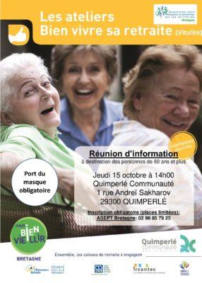 atelier vitalité - Quimperlé @ Quimperlé Communauté   Quimperlé   Bretagne   France