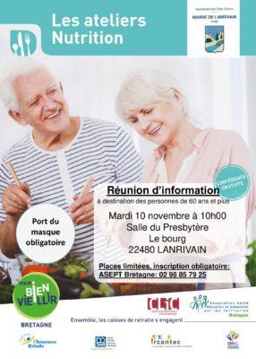 atelier nutrition - Lanrivain (22) @ salle du presbytère   Lanrivain   Bretagne   France
