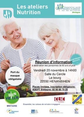 atelier nutrition - Henanbihen (22) @ salle du cercle | Hénanbihen | Bretagne | France