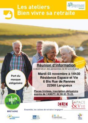 atelier vitalité - Langueux @ résidence escpace et vie | Langueux | Bretagne | France