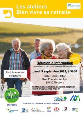 Ateliers Bien Vivre sa Retraite - Moutiers (35) @ Salle communale | Moutiers | Bretagne | France