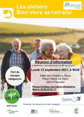Ateliers Bien Vivre sa Retraite : Pleubian (22) @ Salle des Chardons Bleus | Pleubian | Bretagne | France