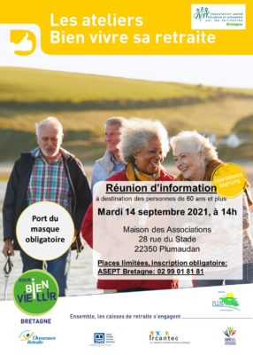 Ateliers Bien Vivre sa Retraite : Plumaudan (22) @ Maison des Associations | Plumaudan | Bretagne | France