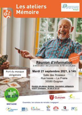 Ateliers Mémoire: Guignen (35) @ Salle des Roseaux | Guignen | Bretagne | France