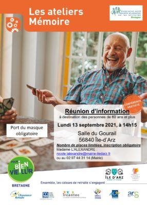 Ateliers Mémoire: Île d'Arz (56) @ Salle du Gourail | Île-d'Arz | Bretagne | France