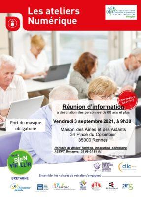Ateliers Numérique: Rennes (35) @ Maison des Aînés et des Aidants | Rennes | Bretagne | France