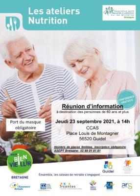 Ateliers Nutrition : Guidel (56) @ CCAS - salle de réunion | Guidel | Bretagne | France