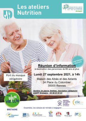 Ateliers Nutrition : Rennes (35) @ Maison des Aînés et des Aidants | Rennes | Bretagne | France