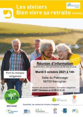 Ateliers Bien Vivre sa Retraite - Kervignac (56) @ Salle du Patronage   Kervignac   Bretagne   France