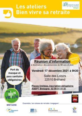 Ateliers Bien Vivre sa Retraite (Vitalité) - Bréhand (22) @ Salle des Loisirs | Bréhand | Bretagne | France