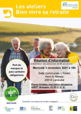 Ateliers Bien Vivre sa Retraite : Landudal (29) @ Salle communale L'Atelier | Landudal | Bretagne | France